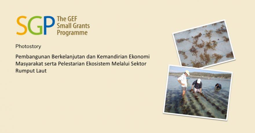 Pembangunan Berkelanjutan dan Kemandirian Ekonomi Masyarakat serta Pelestarian Ekosistem Melalui Sektor Rumput Laut
