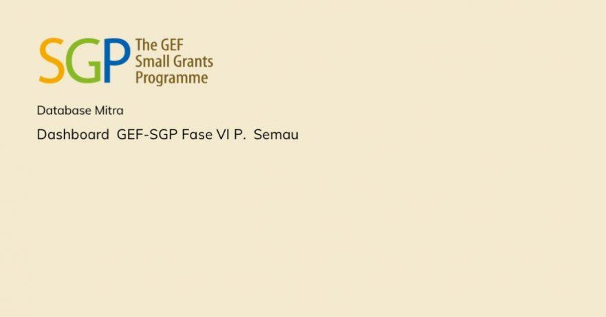 Dashboard GEF-SGP Fase VI Pulau Semau